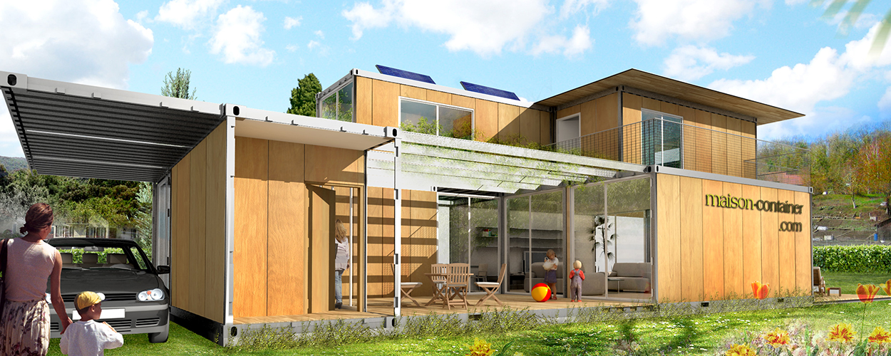 Plan maison en conteneurs for Maison container 44